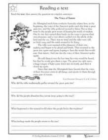 grade 4 reading comprehension worksheets free scalien