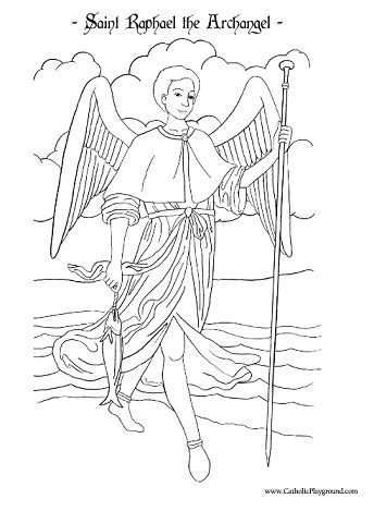 archangel coloring page saint raphael the archangel coloring page september 29th