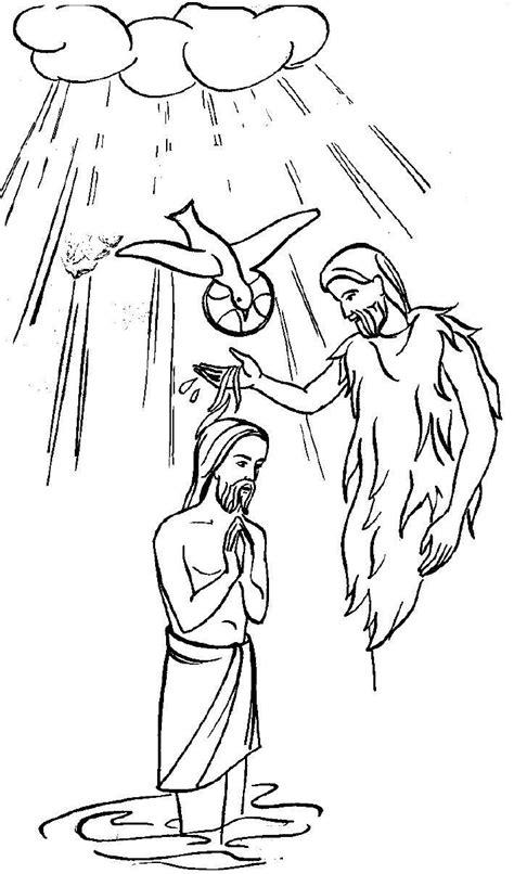 coloring page of jesus being baptized 137 best jean baptiste bapt 234 me j 233 sus images on pinterest