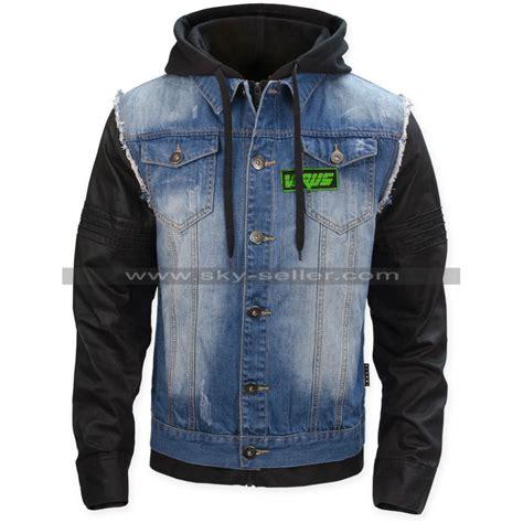 t bone grady dogs bad blood denim leather jacket