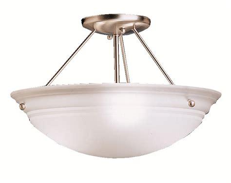 Cove Light Fixtures Kichler 3122ni Cove Molding Top Glass Semi Flush Ceiling Fixture
