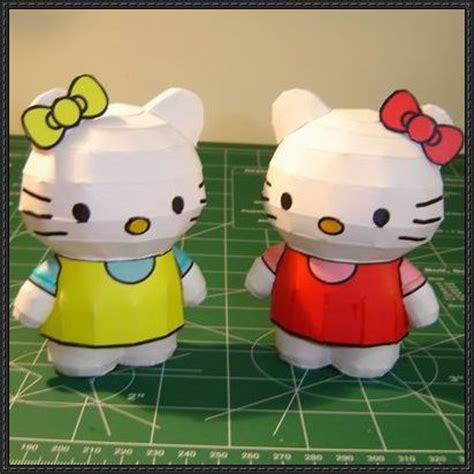Hello Paper Craft - hello and mimmy white free papercrafts