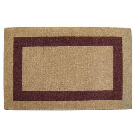30 X 48 Doormat nedia home single picture frame brown 30 in x 48 in coir door mat o2082 the home depot
