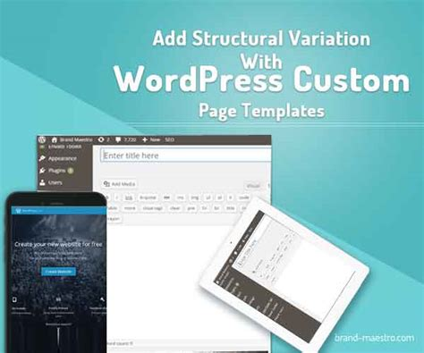 add structural variation with wordpress custom page templates