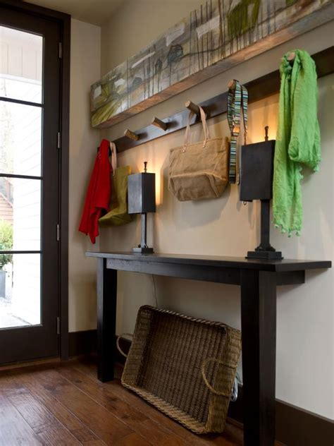 rustic mudroom  hand crafted coat rack storage hgtv