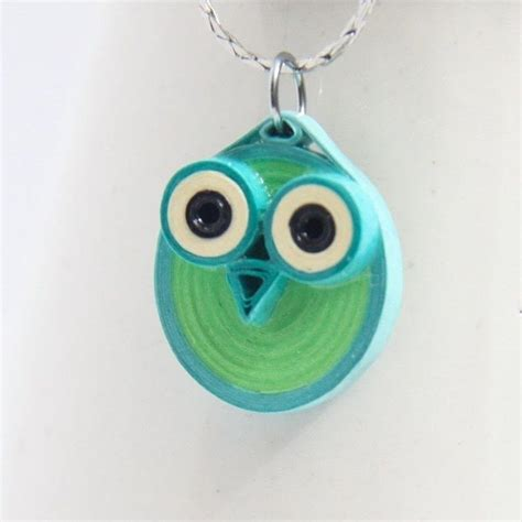 How To Make A Paper Necklace - paper quilled owl pendants 183 how to make a paper bead