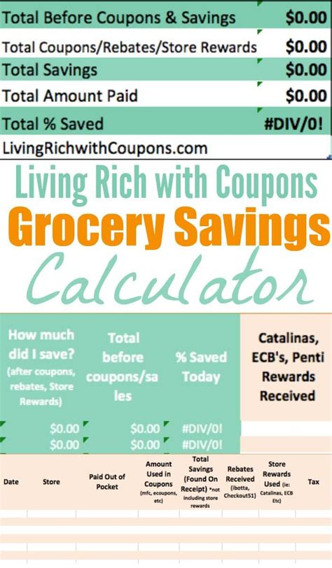 how much money can you make counting cards free grocery savings calculator from lrwcliving rich with