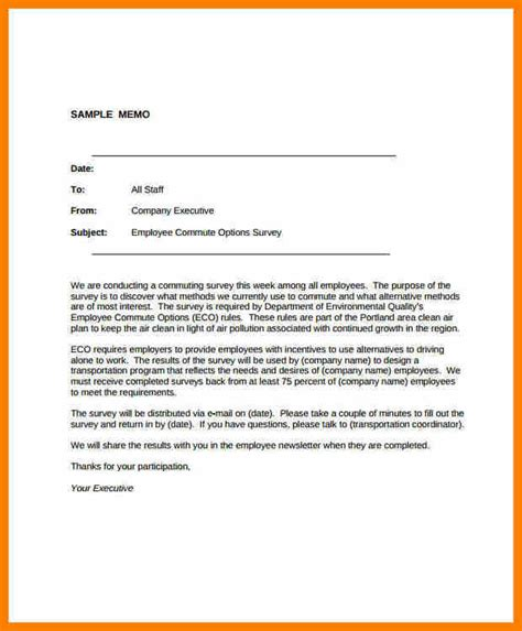 Memo Exles In Business 8 Business Memo Format Resume Pictures