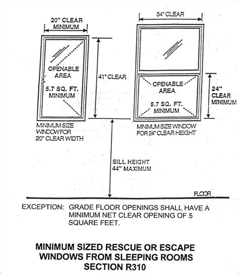 bedroom egress requirements basement bedroom egress window requirements
