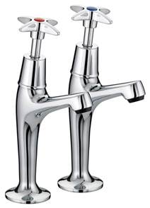 Kitchen Sink Pillar Taps Bristan Value X High Neck Pillar Kitchen Sink Taps