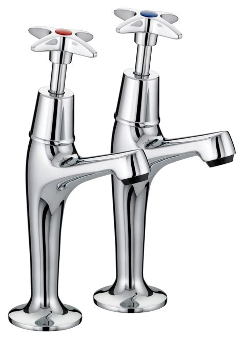 Kitchen Taps Pillar Mixer Taps Bristan Value X High Neck Pillar Kitchen Sink Taps