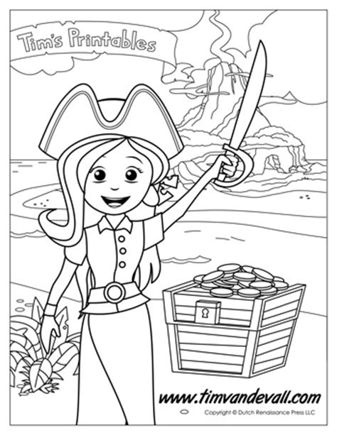 coloring pages girl pirates pirate girl coloring page tim van de vall