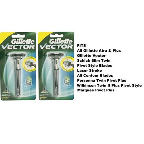 Gillette Vector 2 Cartridges 2 gillette vector fits atra plus razor blades cartridges
