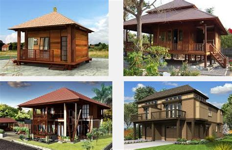 gambar dan contoh foto desain model rumah kayu unik terbaru