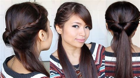 everyday hairstyles bebexo tucked in lace braid half up half down hairstyle hair