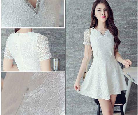 Dress Mini Import mini dress putih import myrosefashion