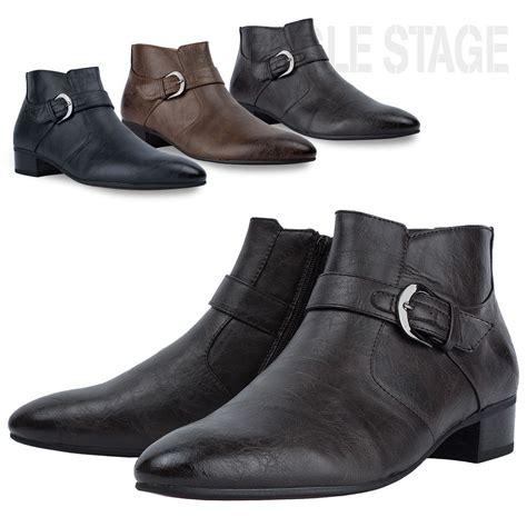 mens dress ankle boots eaglestage richel buckle side zip mens dress ankle