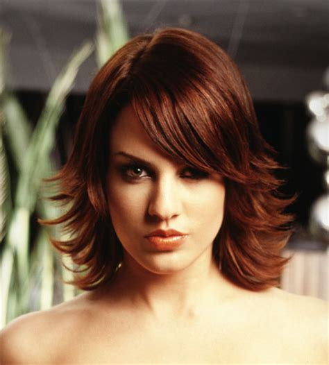 updated flip hairdo layered bob hairstyle flip up hairstyle gallery