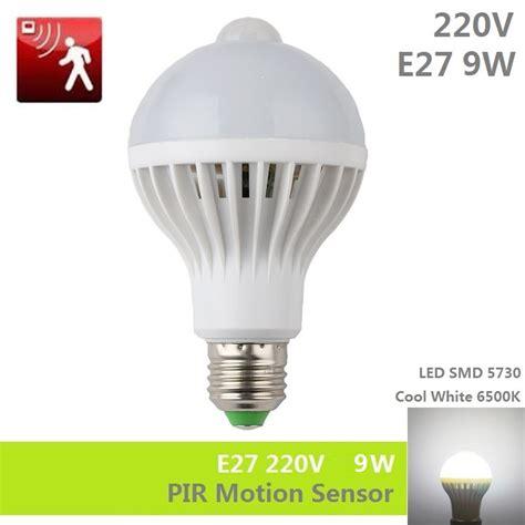 Lu Led Smart E27 9w With Pir Sensor 9w e27 220v pir motion sensor led bulb l smd 5730 automatic smart detection infrared