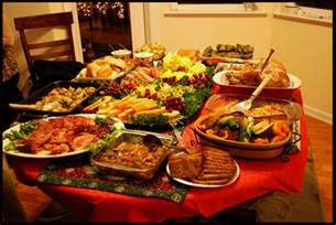 christmas eve meal table 1 too much food everywhere in