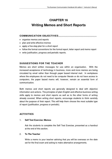 Report Business Letter report writing format for students with exle