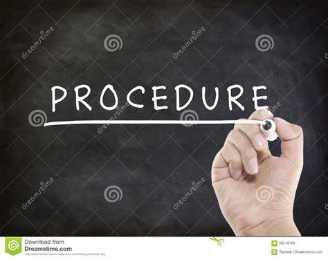 The Procedure procedure stock photo image 58218165