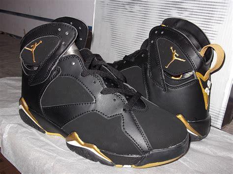 original new air retro 7 black gold shoes for sale