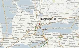 map of richmond hill ontario canada richmond hill location guide