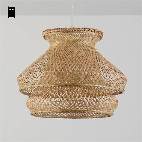 rattan pendant l shade aliexpresscom buy bamboo wicker rattan shade chandelier