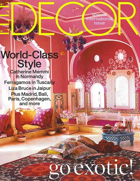 home design decor magazine decoration elle decor magazine