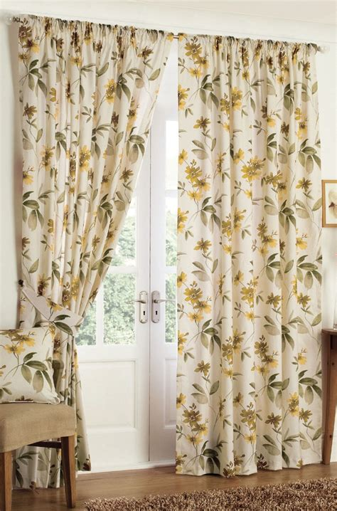 natural floral curtains floral print curtains in natural shades http www