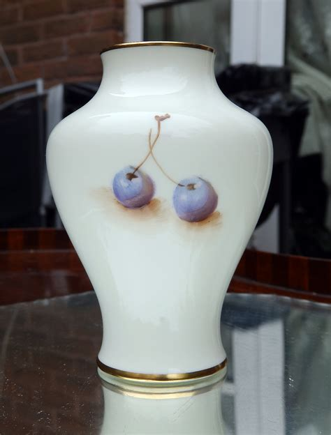 Royal Worcester Vases For Sale by Vintage Porcelain Royal Worcester P Fruit