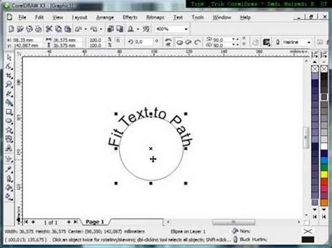 Tutorial Mastering Coreldraw 1 fit text to path technique tutorial corel draw tips and