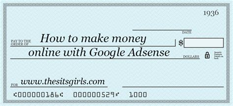 Making Money Online With Google - how to make money with google adsense the sits girls