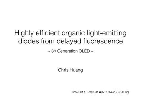 efficient organic light emitting diodes oleds highly efficient organic light emitting diodes from delayed fluorescence 28 images