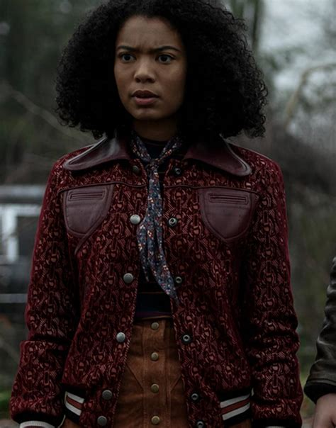 chilling adventures  sabrina jaz sinclair bomber jacket