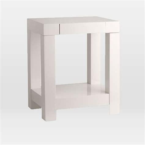 parsons end table white parsons end table elm