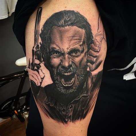 walking dead tattoo rick grimes the walking dead i did this week