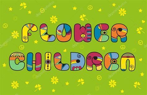 foto hippie figli dei fiori figli dei fiori tipo di carattere hippie foto stock
