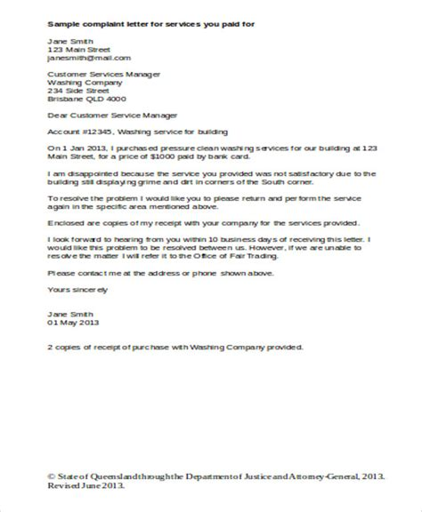 business complaint letter template letter customer service complaint