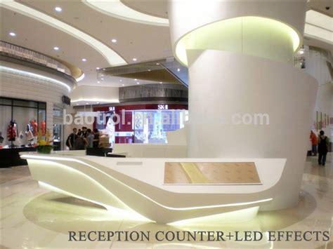 reception desk materials modern l shape counter high glossy white salon