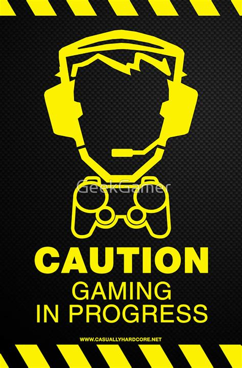 Wall Stickers For Teenage Rooms quot caution gaming in progress poster quot posters by geekgamer