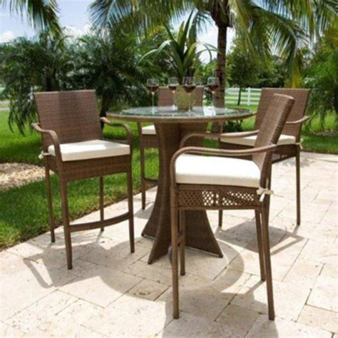 Patio Bar Height Dining Set Grenada 5 Patio Bar Height Dining Set By Hospitality Rattan 1862 45 Outdoor Wicker