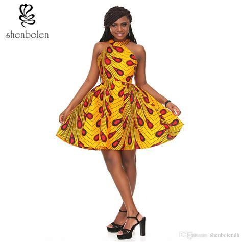 Anyaoja Batik Casual Mini Dress shenbolen ankara batik print traditional