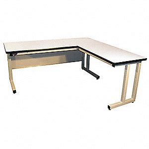 l shaped work bench pro line l shaped workbench laminate 72 quot w 30 quot d 16y936