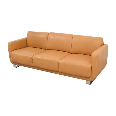 light brown leather sofa 74 off w schillig w schillig light brown leather sofa
