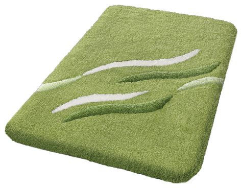 green bathroom rug non slip washable bathroom rug kiwi green shadow