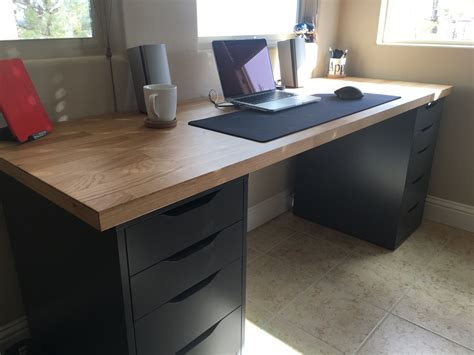 ikea countertop desk reddit my desk set up youtube