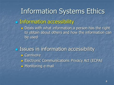 information security and ethics social and organizational issues books chapter 9 information systems ethics computer crime and