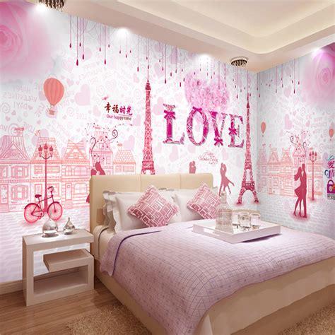 wallpaper couple pink custom mural pink romantic couple 3d wallpaper mural hotel